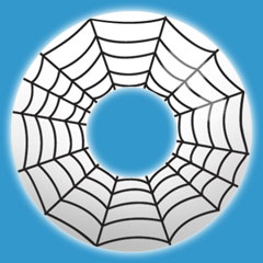 Halloween Spiderweb Contact Lenses