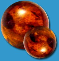 Amber Threaded Balls