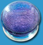 Purple Glass Glitter Flesh Plug