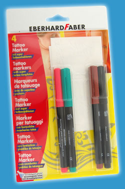 Temporary Tattoo Pens and Stencil Kit