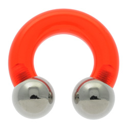 Red UV Circular Barbell