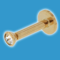 18ct Gold Labret Stud