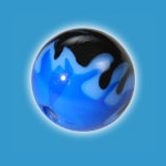 Blue Flame Acrylic Ball