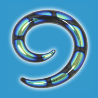 Green Dichroic Glass Spiral