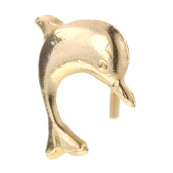 Dolphin 9ct Gold Nose Stud