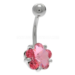 Flower Stone Belly Ring