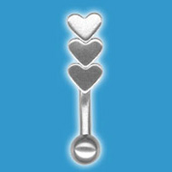 Hearts Eye Brow Barbell