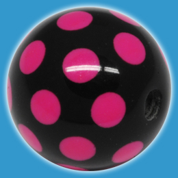 Pink Dot Acrylic Ball