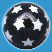 White Stars Acrylic Ball