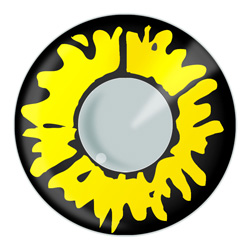 Yellow Werewolf Contact Lens