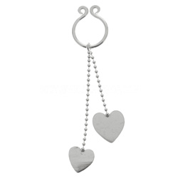 Hearts Fake Nipple Ring