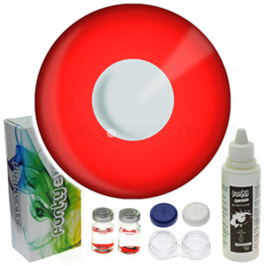 Red Colour Contact Lens Set