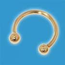 Horseshoe 18ct Gold Eyebrow Ring