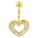 Gold Plated 16ga Belly Bar