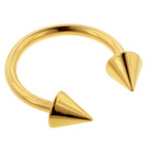 Cones Gold Plated Eyebrow Ring