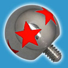 Red Star Threaded Ball