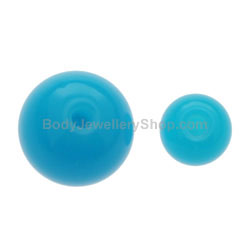 Neon Blue Belly Bar Balls