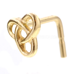 9ct Gold Nose Stud-Knot