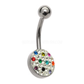 Rainbow Crystal Belly Bar