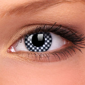 Chequered Novelty Contact Lenses