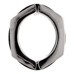 Hexagon Non Piercing Silver Nipple Clamp