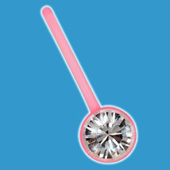 Jewelled Pink BioFlex Belly Bar £2.95