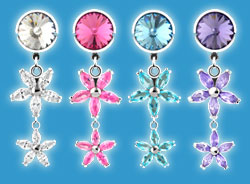 Non Piercing Belly Rings Flower