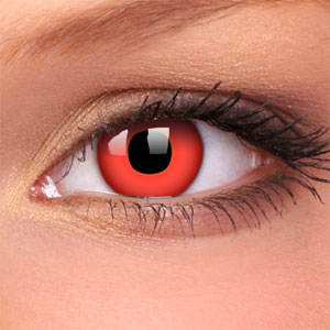 Devil Red Coloured Contact Lenses