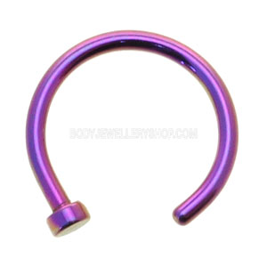 Purple Titanium Open Nose Ring