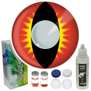 Red Vampire Contact Lenses Complete Set