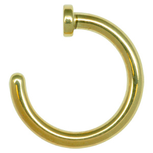 Zircon Gold Open Nose Ring