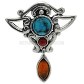 Turquoise Amber Gemstone Belly Bar