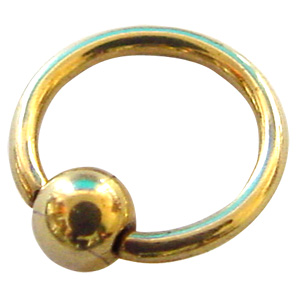 Zircon Gold Ball Clitoris Jewellery
