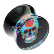 Mexican Skull Ear Gauge Plug £3.95