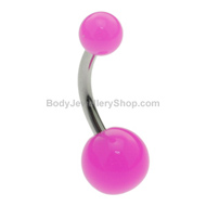 Neon Pink Belly Button Ring