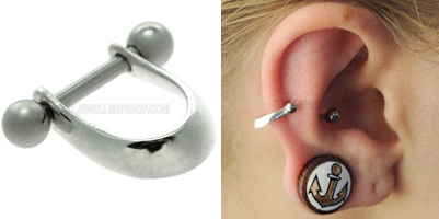 silver ear cuffs jewellery shop