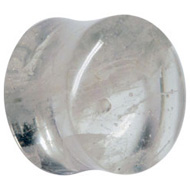Clear Cloud Krakatoa Glass Flesh Plug