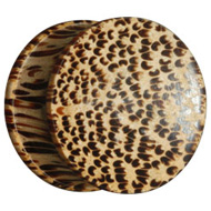 Concave Coco Wood Flesh Plug