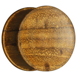 Concave Teak Wood Flesh Plug