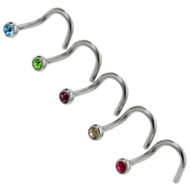 Curved Nose Piercing Studs Pack