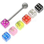 Dice Tongue Piercing Pack