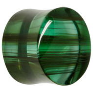 Green Krakatoa Glass Flesh Plug