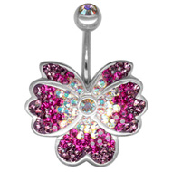Purple Orchid Navel Jewellery
