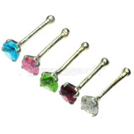 Straight Nose Piercing Studs Pack