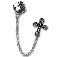 Alchemy Gothic Cross Earring