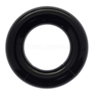 Black Acrylic Smooth Segment Ring