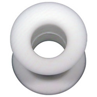 White Silicone Flesh Tunnel
