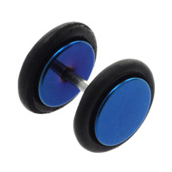 Blue Steel Fake Ear Stretcher