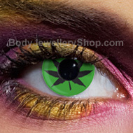 Green Cannabis Contact Lenses
