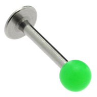 Green UV Labret Stud